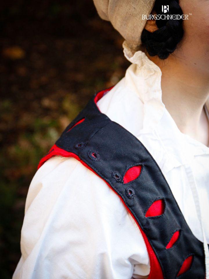 Corset Flora en rouge et noir 3