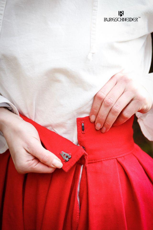 Jupe large Flora rouge et noire 3