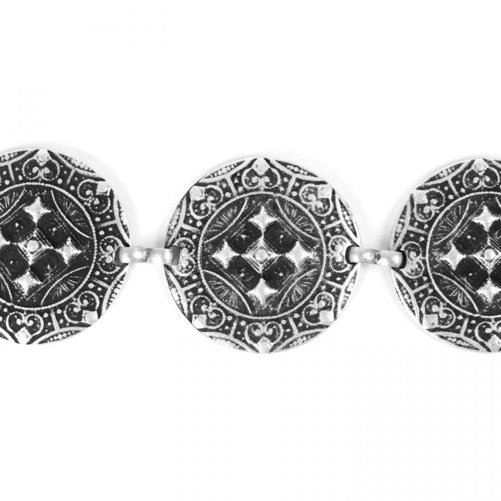 Ceinture métal argent 3
