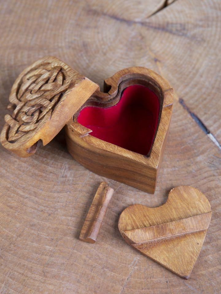 Boîte à bijoux en forme de coeur 3