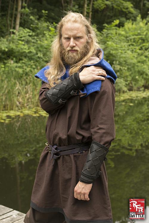 Brassards Viking en cuir, noirs 3