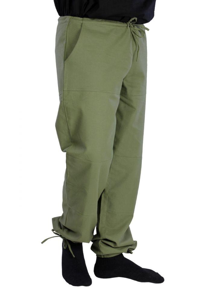 Pantalon paysan vert olive XL 3