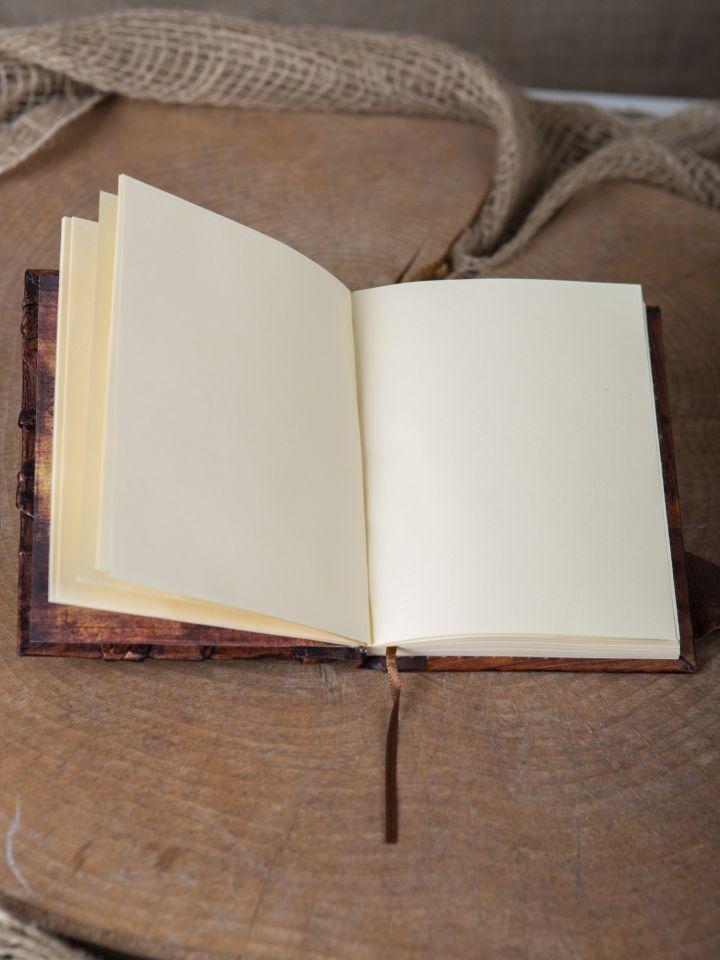 Carnet d'écriture en cuir marron 3