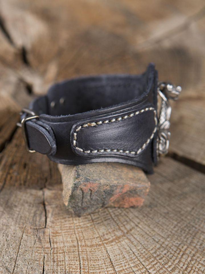 Bracelet en cuir Marteau de Thor Viking 3