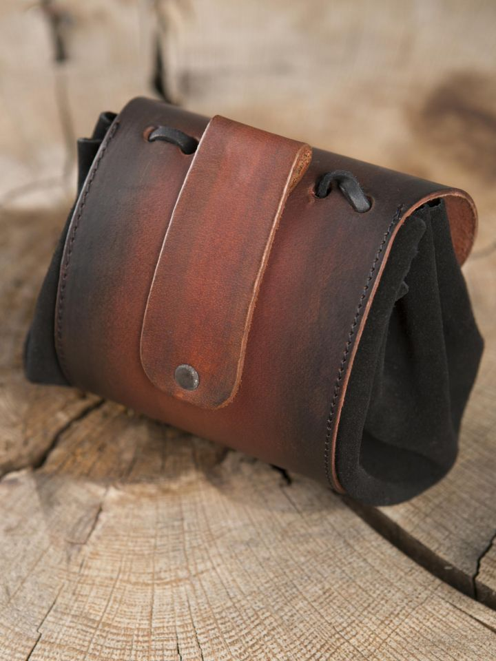 """Petit sac de ceinture en cuir, motif """"triskele 3"""