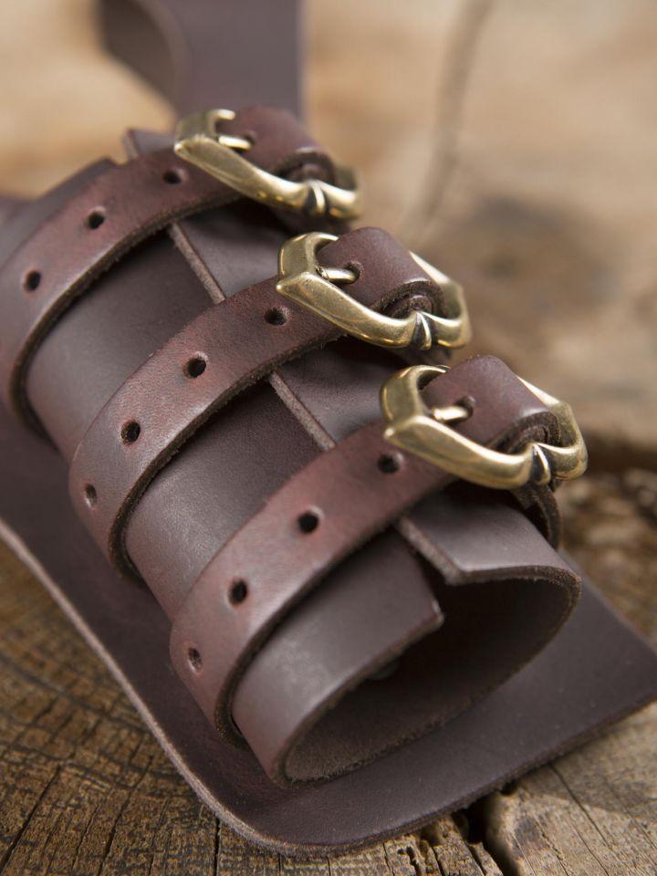 Porte-épées 3 boucles, en marron 3