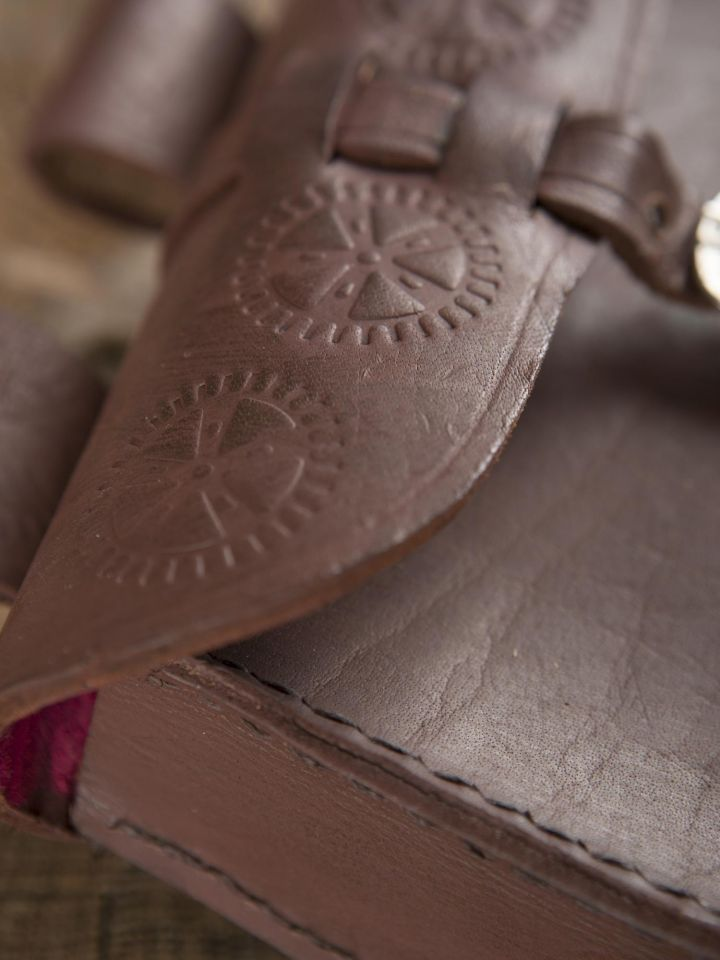 Sacoche de ceinture en cuir, marron 3