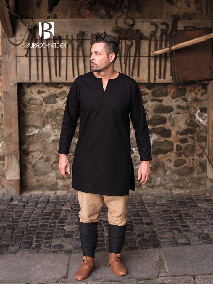 Tunique en coton non peigné en noir S 3