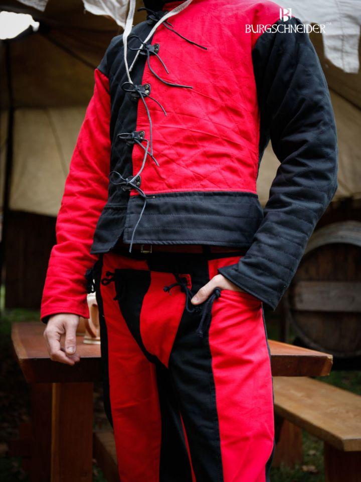"""Pantalon Lansquenet """"Imperialis"""" rouge et noir 3"""