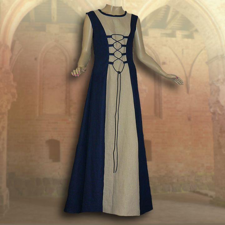 Ensemble médiéval Isabella en bleu 3