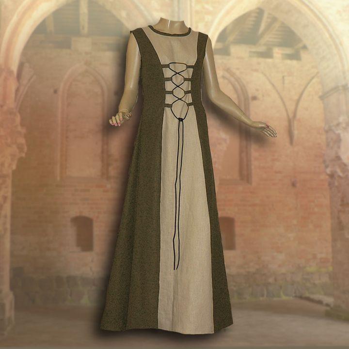 Ensemble médiéval Isabella en vert olive 3