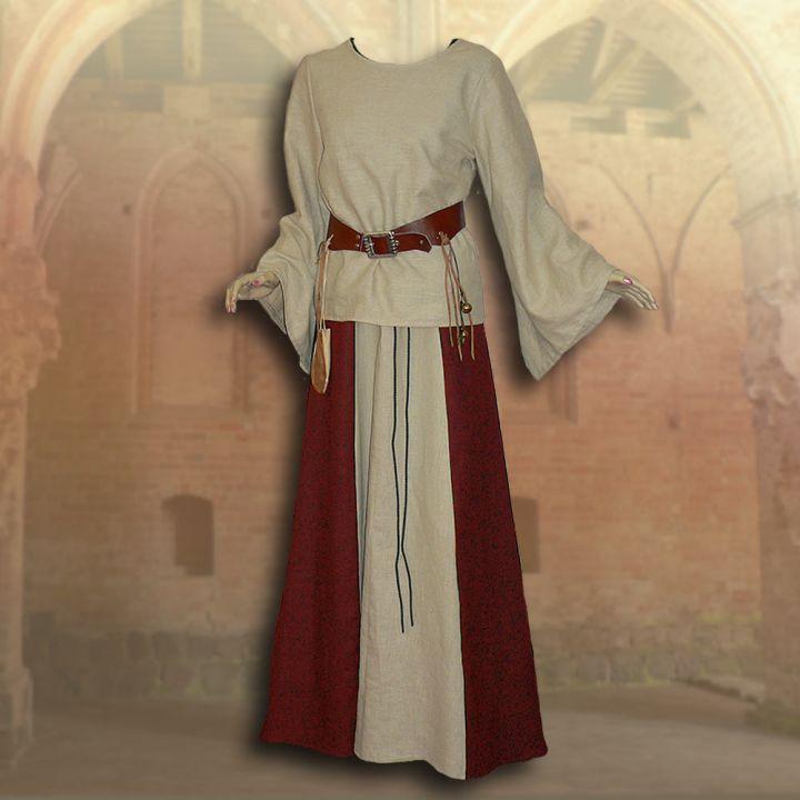 Ensemble médiéval Isabella en rouge 3