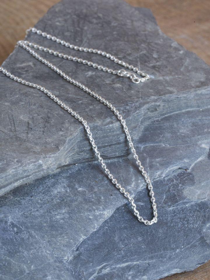 Fine chaîne en argent 50 cm 3
