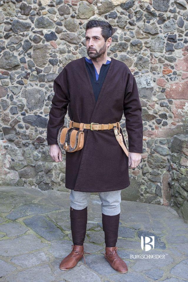 Veste croisée en laine en marron 3