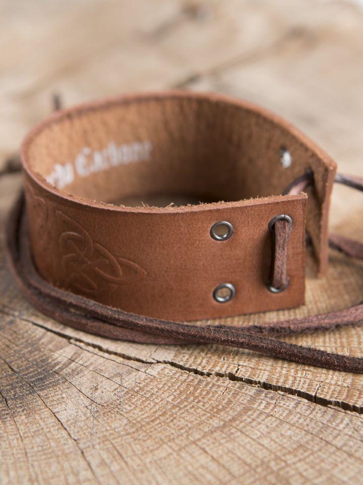 Bracelet motifs Celtiques, en marron 3