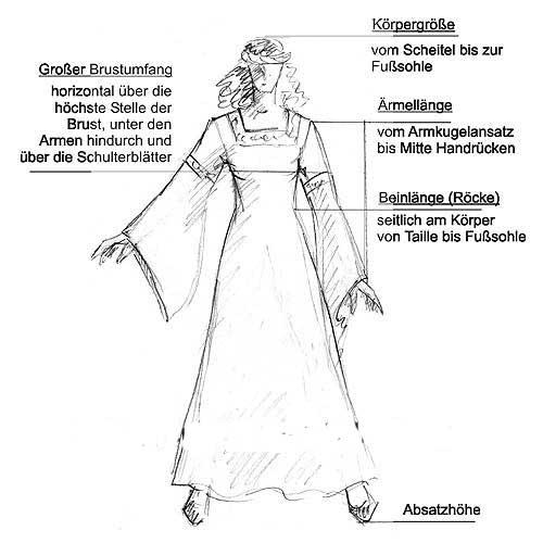Robe médiévale Elisabeth en bleu marine et sable 3
