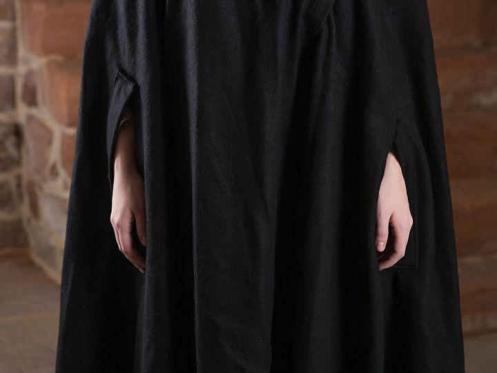 Manteau en laine Allan, en noir 3