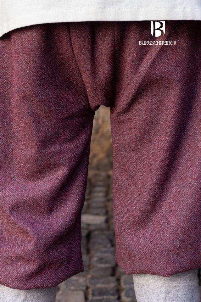 Pantalon féminin Tilda chiné bordeaux et gris 3