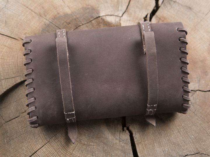 Besace de ceinture  en cuir marron 3