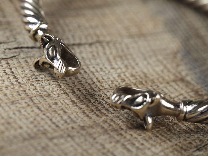 Bracelet Viking à Tête de loup 3