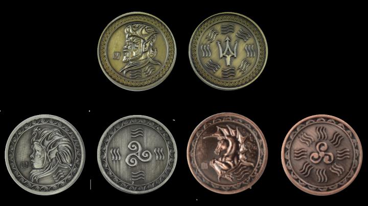 Pièces de monnaie GN Onde 3