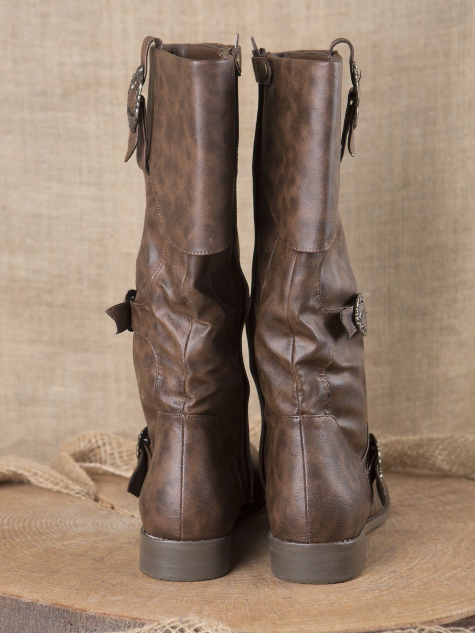 0cb9f818d54aa Bottes de pirates en marron ...