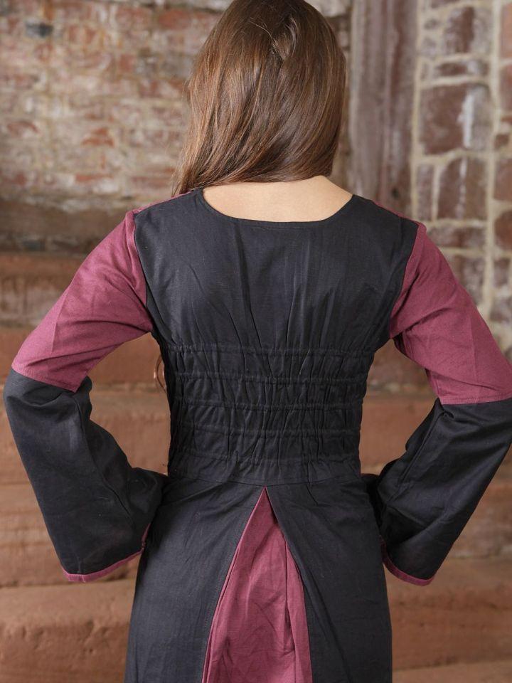 Robe médiévale bicolore (noire-bordeaux) L/XL 4