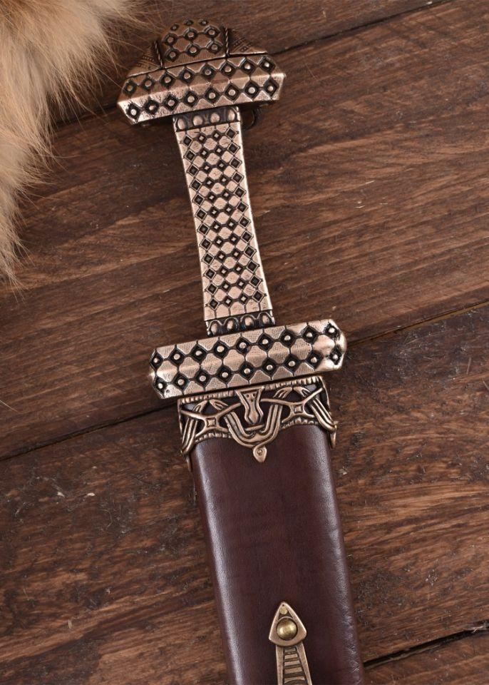 Epée Viking, poignée en bronze 4