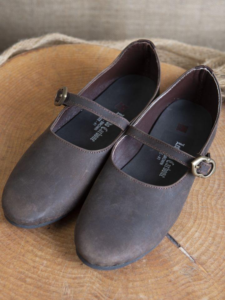Chaussures médiévales Rieke en nubuck marron 4