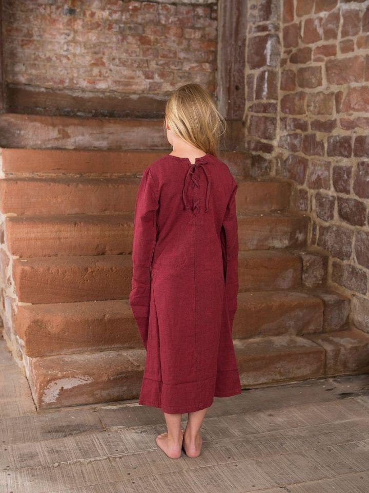 Robe médiévale en coton pour enfant 122/128 | bordeaux 4