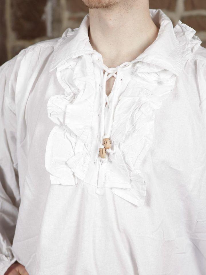 Chemise à jabot en coton L 4