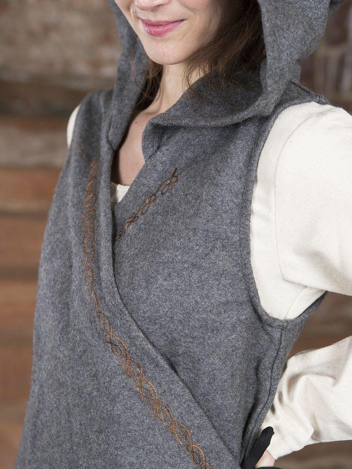 Robe portefeuille Dala en feutre gris 4