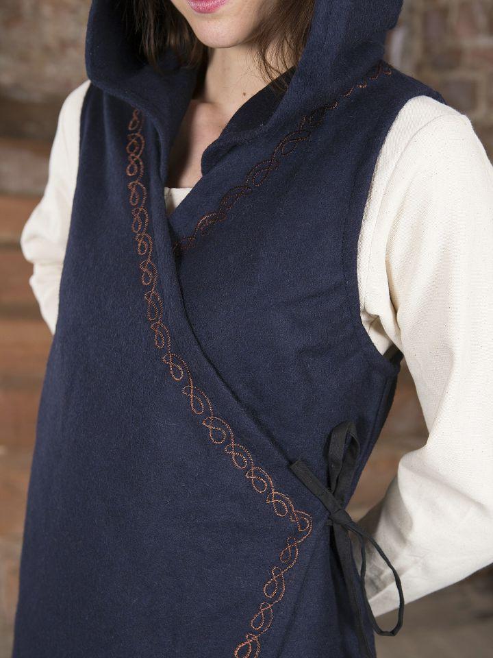 Robe portefeuille Dala en feutre bleu 4