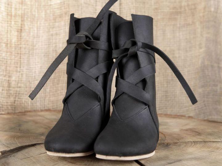 Bottines viking en cuir noir 48 4