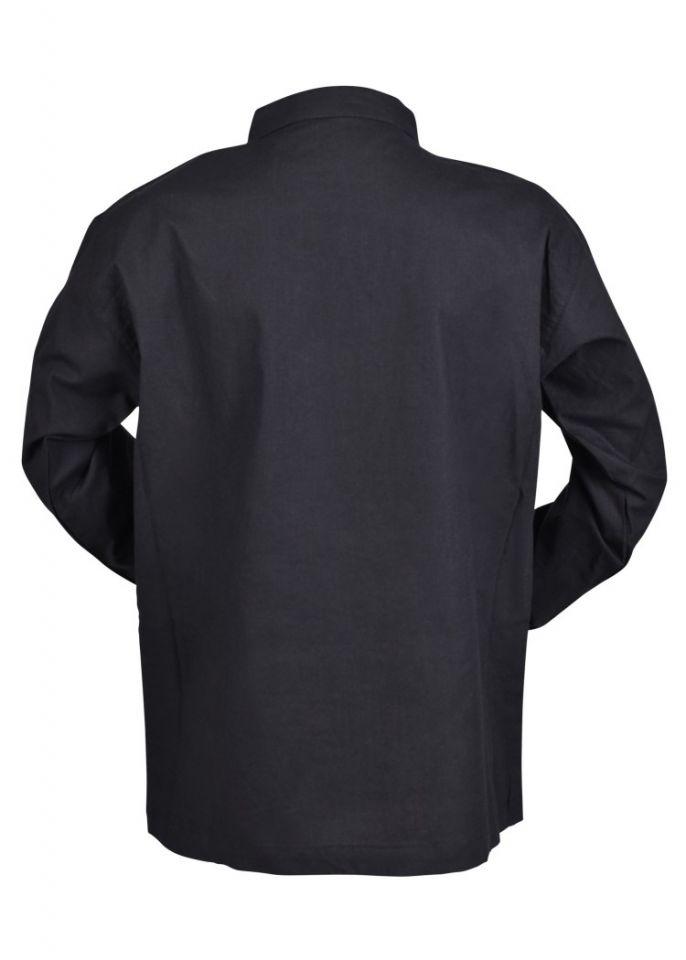 Chemise médiévale pour enfant, en noir 4