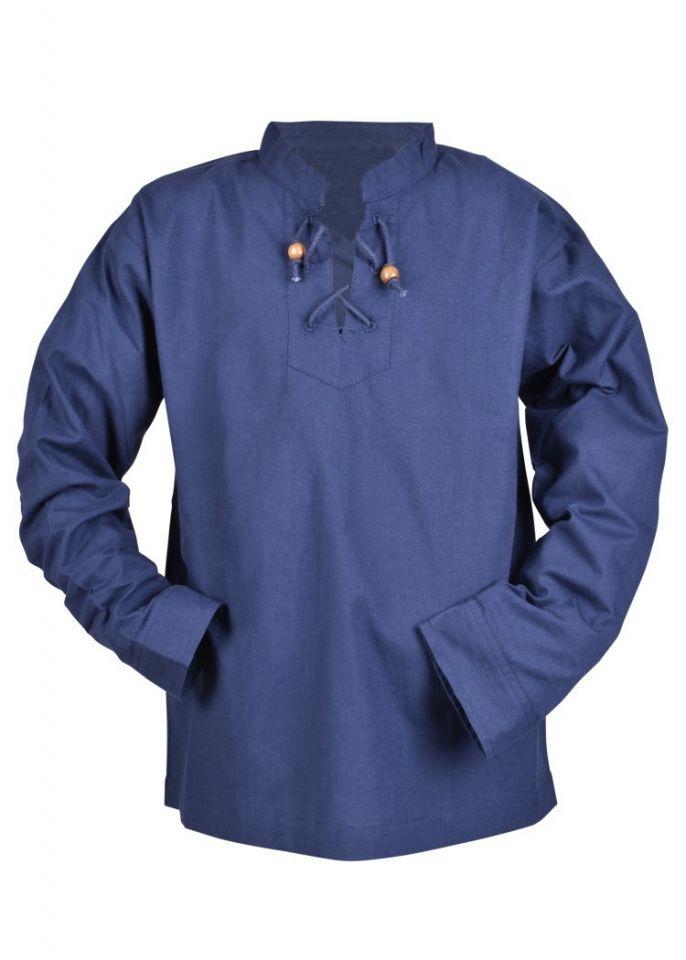 Chemise médiévale pour enfant, en bleu 4