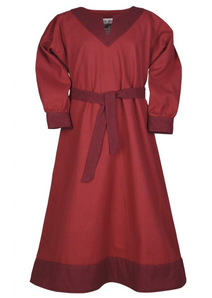 Robe Viking pour enfant, rouge/lie de vin 4