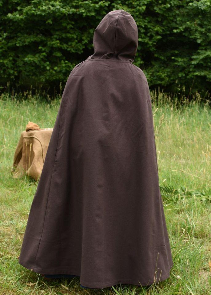 Cape médiévale pour enfant en coton marron 4