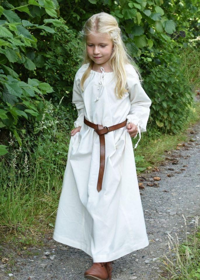 Robe médiévale Mara pour enfant écrue 4