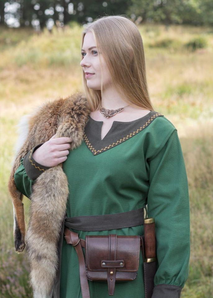 Robe viking Freydis en vert 4