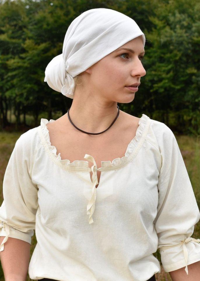 Grand foulard médiéval, écru 4