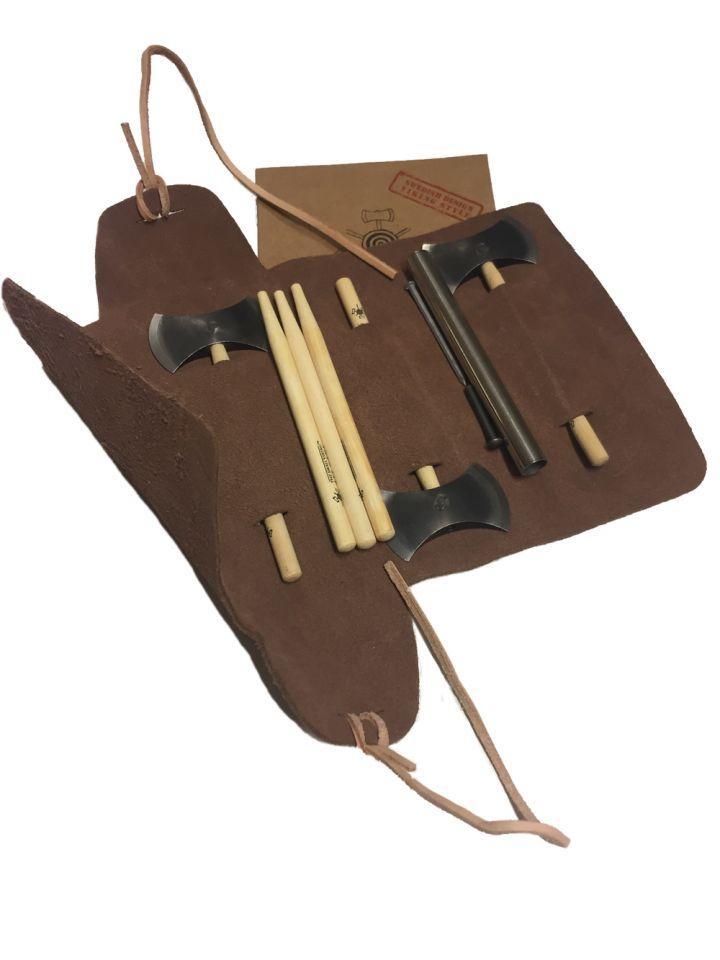 Coffre jeu de lancer mini haches Viking 4