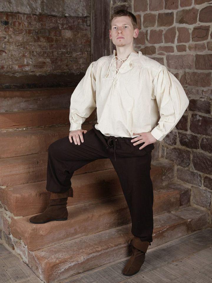 Pantalon médiéval en coton, avec poches noir XL | noir 4