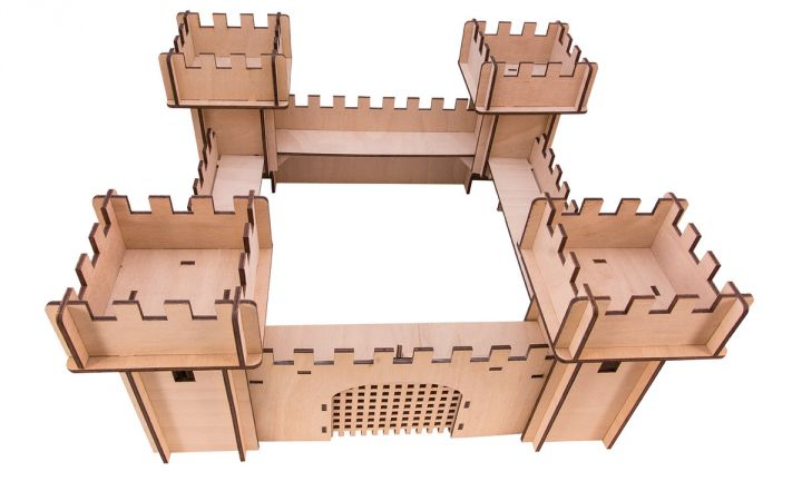 Chateau en bois 3D 4