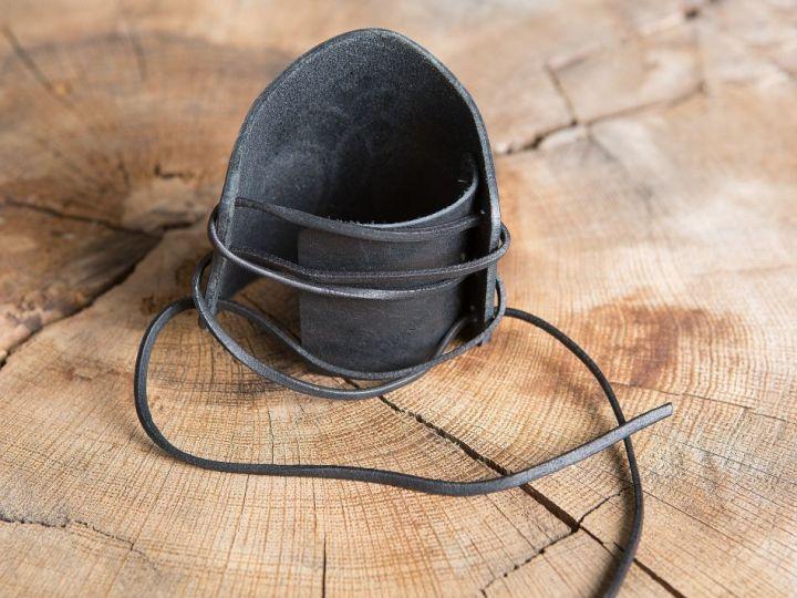 Brassards en cuir Marteau de thor noir 4