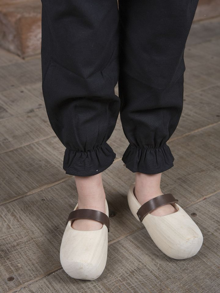 Pantalon médiéval pour enfant en coton XS | noir 4
