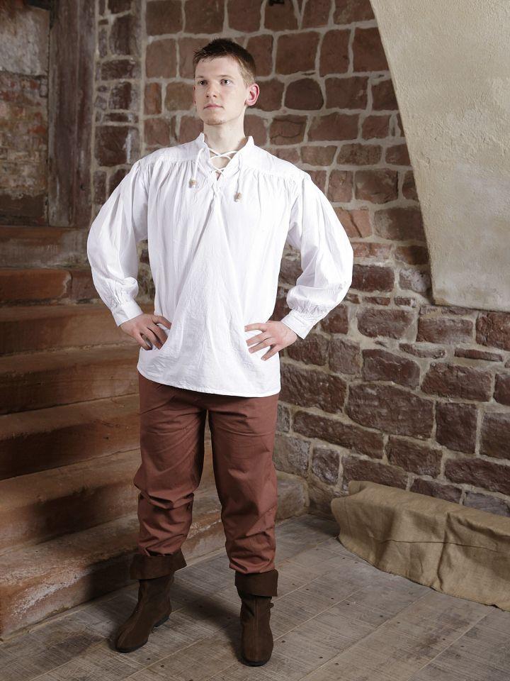 Pantalon médiéval en coton marron 4