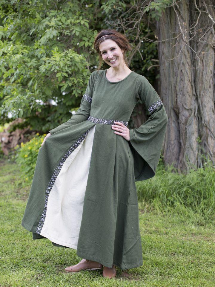 Robe médiévale vert forêt 4