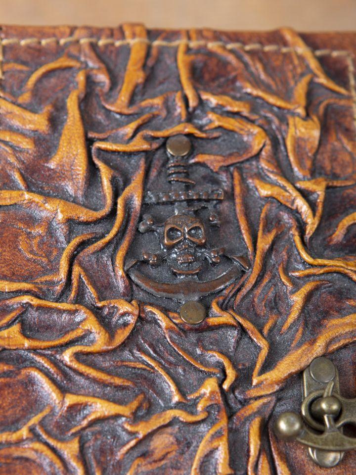 Petit carnet en cuir motif Pirate 4