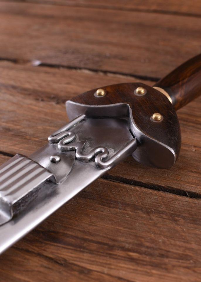 Epée celtique, avec poignée en bois et fourreau en acier 4